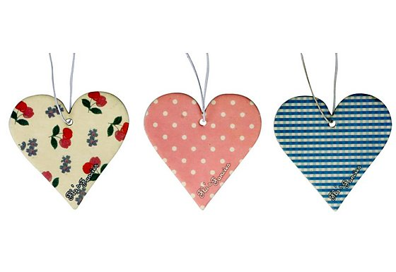Flo's Fancies Vintage Hearts 3 pack Air Freshener