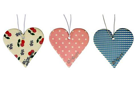 image of Flo's Fancies Vintage Hearts 3 pack Air Freshener