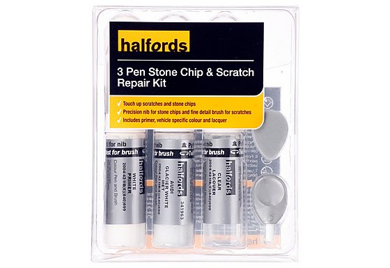 Halfords Audi Glacier White Metallic Scratch & Chip Repair Kit