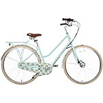image of Olive and Orange by Orla Kiely Womens Classic Bike - Part Cover Duck Egg Tall Flower