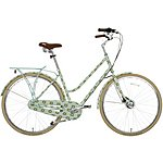 image of Olive and Orange by Orla Kiely Womens Classic Bike - Full Cover Duck Egg Tall Flower
