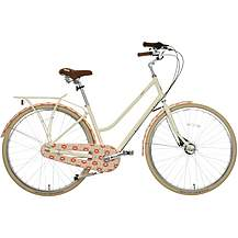 "image of Olive and Orange by Orla Kiely Womens Classic Bike - Pink Tall Flower - 17"", 19"" Frames"