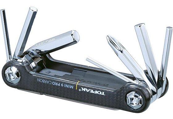 Topeak Mini 9 Pro Carbon Multi Tool - Silver