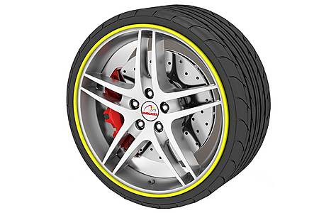 image of Rimblades Alloy Wheel Rim Protectors Yellow