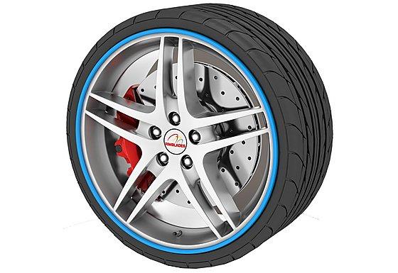 Rimblades Alloy Wheel Rim Protectors Blue