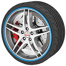 image of Rimblades Alloy Wheel Rim Protectors Blue