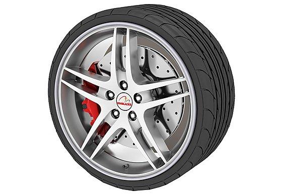 Rimblades Alloy Wheel Rim Protectors Silver
