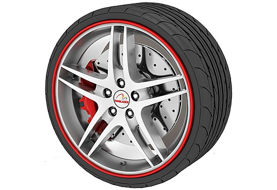 Rimblades Alloy Wheel Rim Protectors Red