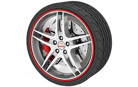 image of Rimblades Alloy Wheel Rim Protectors Red