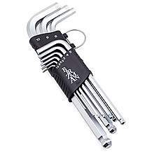 image of Birzman Long Arm Ball Point Hex Key Set - 9 Pieces