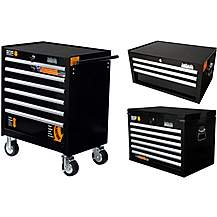 image of Halfords Industrial 6 & 3 Drawer Chest and 6 Drawer Cabinet Bundle