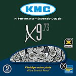 image of KMC X9-73 116L Grey Bike Chain - 9 Speed