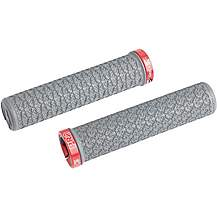 image of PRO Atherton Single Lock Ring Grips, 135 x 30 mm - Grey With Red Lock Ring
