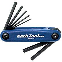 image of Park Tool AWS10C Fold-Up Hex Wrench Set 1.5mm to 6mm