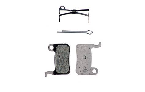 image of Shimano BR-M775 Resin Brake Pads (A01S) with Spring and Split Pin