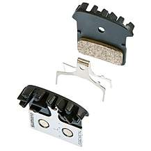 image of Shimano BR-M985 F03C Metal Disc Brake Pad with Cooling Fin and Spring