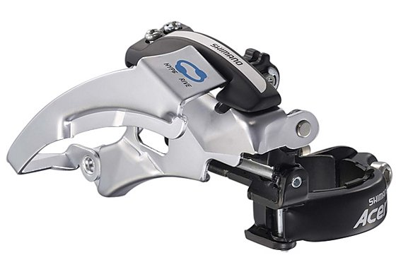 Shimano FD-M360 Acera Front Derailleur, Dual-Pull, Multi-Fit, Top Swing, Silver