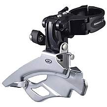 image of Shimano FD-M591 Deore ATB Front Derailleur, Conventional-Swing Multi-Fit, Black