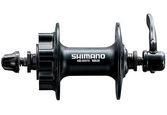 Shimano HB-M475 Disc Front Hub 6-Bolt, 36 Hole - Black