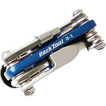 image of Park Tool IB3C - I-Beam Mini Fold-Up Hex Wrench Screwdriver and Star Shaped Wrench Set