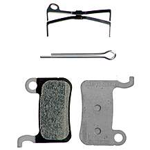 image of Shimano M07TI Titanium Backed and Resin Disc Brake Pads and Spring