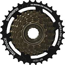 image of Shimano MF-TZ31 7-Speed Multiple Freewheel, 14-34 T MegaRange