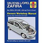 image of Vauxhall/Opel Zafira P & D (2010-2014) Haynes Manuals