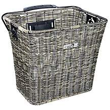 image of New Looxs Sumatra Front Basket - Rattan Grey