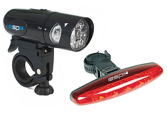 RSP Radian 5 LED Front and 5 LED Rear Bike Light Set