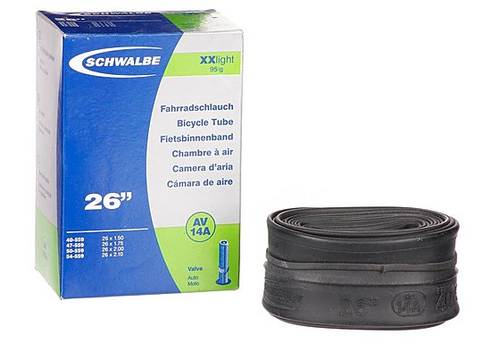 Schwalbe SV14A XX Light Presta Bike Inner Tube - 26