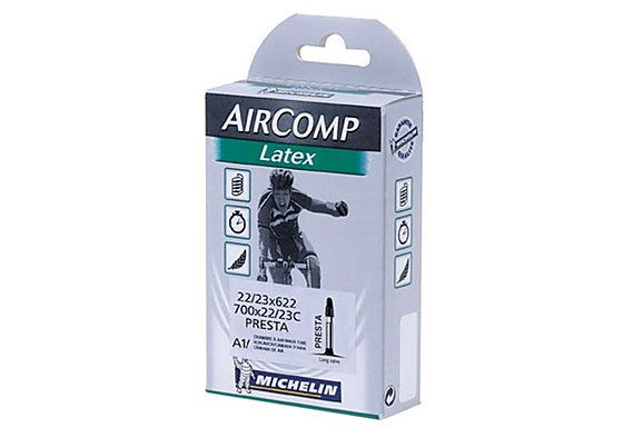 Michelin Air Comp 40mm Latex Presta Bike Inner Tube - 700 x 22-23c