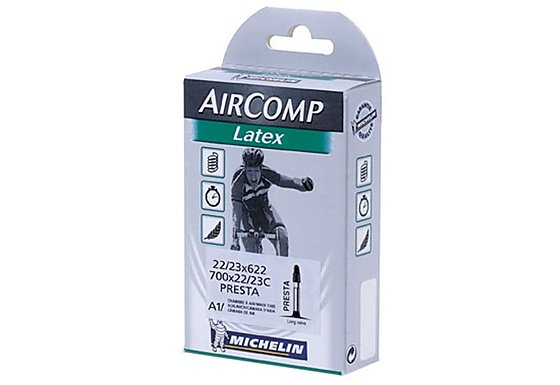 Michelin Air Comp 60mm Latex Presta Bike Inner Tube - 700 x 22-23c