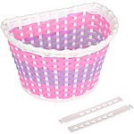 image of Girls Plastic Woven Bike Basket