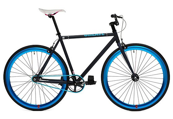 CREATE Original Fixed Gear Bike Black and Blue - 54cm