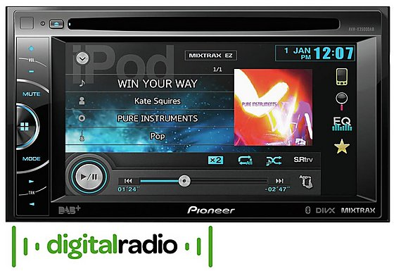 Pioneer AVH-X3500DAB DAB Car Radio/CD Player