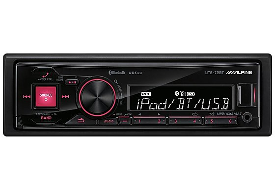 Alpine UTE-72BT Drive-less Head Unit with Bluetooth and iPod