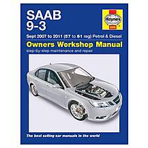 image of Haynes Saab 9-3 Petrol and Diesel (Sept 07 - 11) Manual