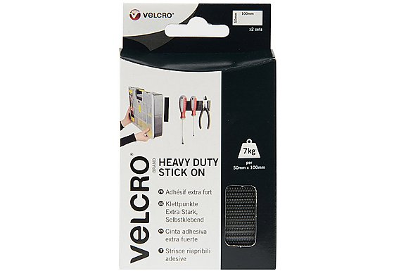 VELCRO#174; Brand Heavy Duty Strips Black