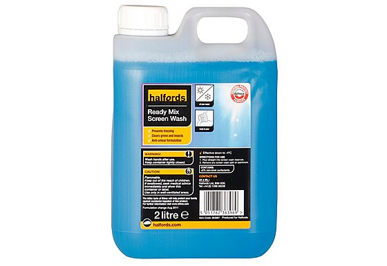 Halfords Ready Mixed Screen Wash 2 Litre