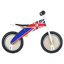 "image of Kiddimoto Kurve Union Jack Balance Bike - 12"" Wheel"