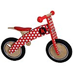 image of Kiddimoto Kurve Red/White Dotty Balance Bike