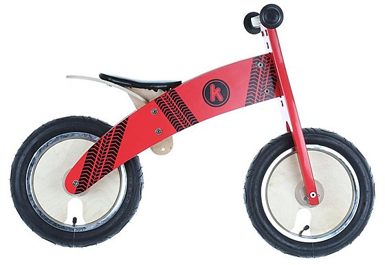 Kurve Red Tyre Balance Bike