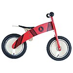 image of Kiddimoto Kurve Red Tyre Balance Bike