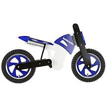 image of Kiddimoto Blue, Black & White Scrambler Balance Bike