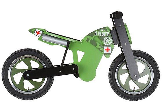 Kiddimoto Army Scrambler Balance Bike
