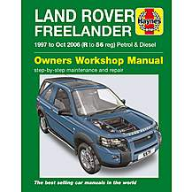 image of Haynes Land Rover Freelander (1997 - Oct 06) R to 56 Manual