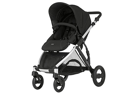 Britax B-Dual 4 Wheeled Pushchair Neon Black