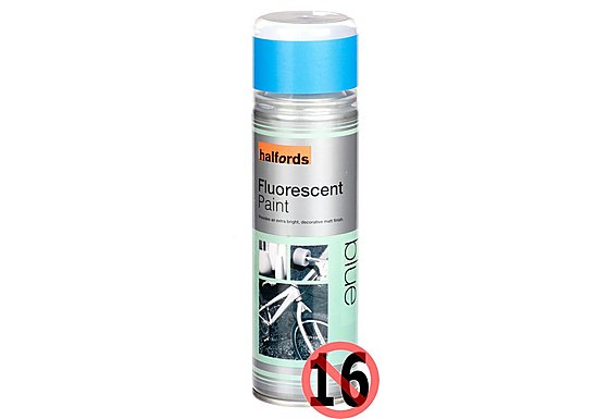 Halfords Fluorescent Blue Paint 300ml