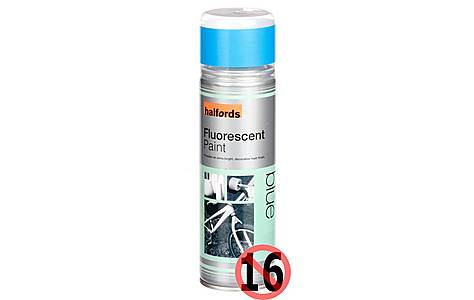 image of Halfords Fluorescent Blue Paint 300ml