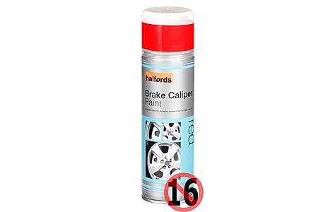 image of Halfords Brake Caliper Spray Paint Red 300ml
